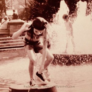 Girls in Washington Square Fountain