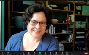 Rachel Kobin teaches via Zoom